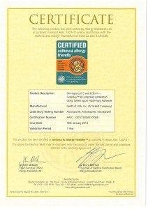 Tarkett Official Certificate AAFA